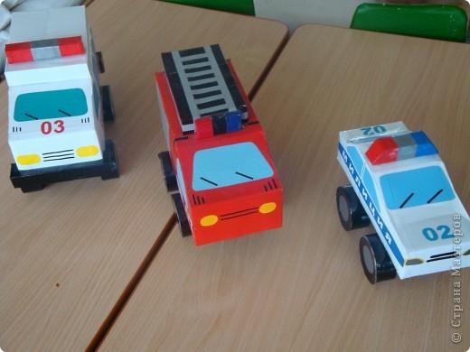 Спецтранспорт из самоклейки и пачек  фото 1