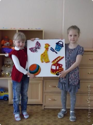 В память о наших любимых игрушках мы решили сделать такую картину и подарить её детскому саду... фото 1