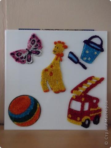 В память о наших любимых игрушках мы решили сделать такую картину и подарить её детскому саду... фото 2