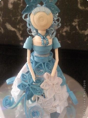 """на конкурс в детском саду делала такую куклу. она из коллекции """"Времена года"""". это - зима фото 1"""