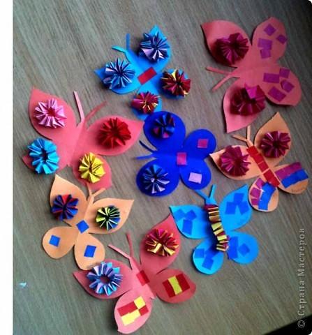 Сегодня сделали таких бабочек.Украшал каждый по своему желанию. фото 1