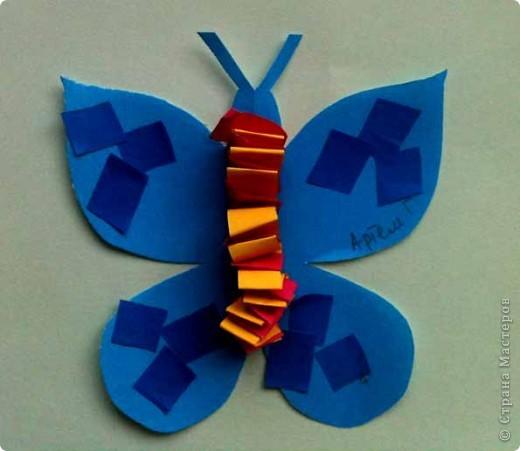 Сегодня сделали таких бабочек.Украшал каждый по своему желанию. фото 5