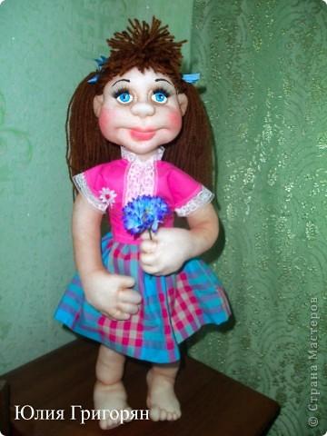 Анюта, это очередная сестричка куклы Даши. Спасибо Елене Лаврентьевой за замечательные МК. фото 1