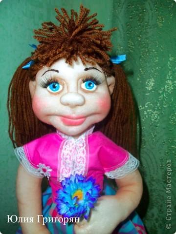 Анюта, это очередная сестричка куклы Даши. Спасибо Елене Лаврентьевой за замечательные МК. фото 3