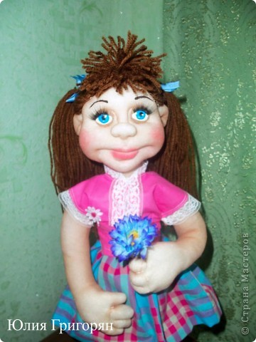Анюта, это очередная сестричка куклы Даши. Спасибо Елене Лаврентьевой за замечательные МК. фото 2