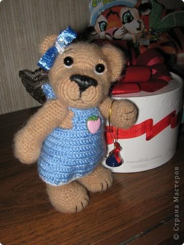 Эта зайка связана в подарок племяннице. фото 4