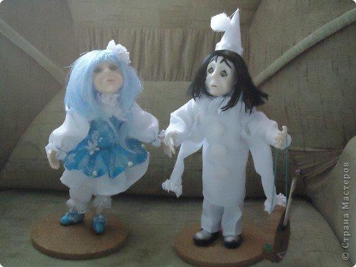 Это Пьеро и Мальвина. Правда мои-особенные (не похожие на реальных). фото 1