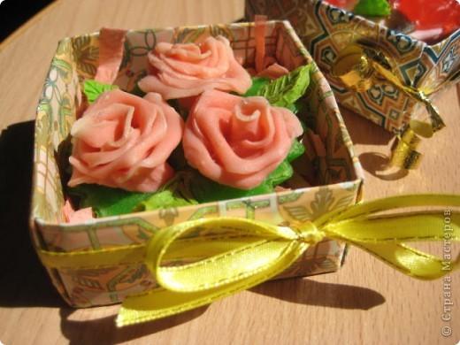 сделались под настроение вот такие розовые букетики в корзинках фото 3