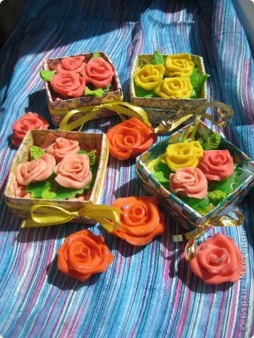 сделались под настроение вот такие розовые букетики в корзинках фото 4