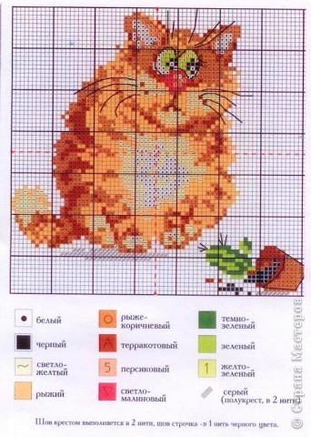 Представленные здесь схемы- из наборов для вышивания: шкодливый кот фото 1