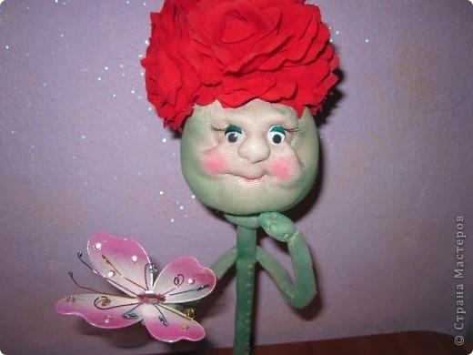 Цветочки из капрона фото 6