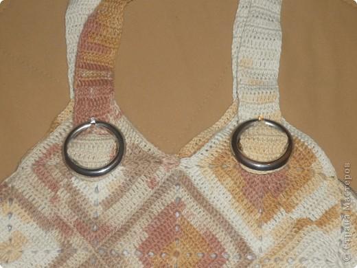 Вязание крючком - Летняя сумка по МК Голубки.