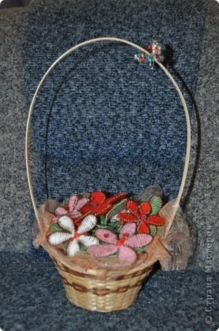 Корзинка с цветами фото 1