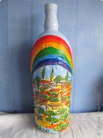 Бутылка готовилась стать морской - ну никак я не дойду до этой темы. Но вот решила - всё - быть этому бутыльку морским! фото 7