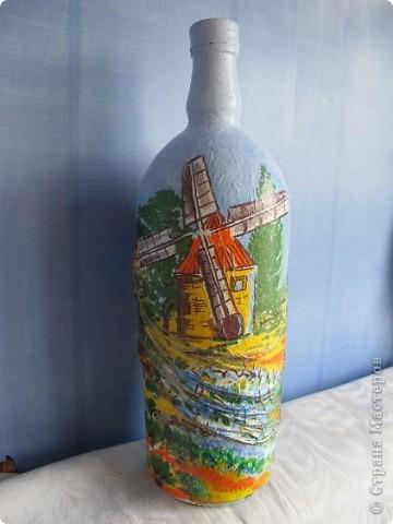 Бутылка готовилась стать морской - ну никак я не дойду до этой темы. Но вот решила - всё - быть этому бутыльку морским! фото 4