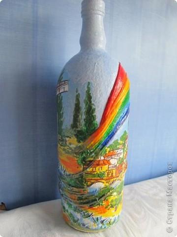 Бутылка готовилась стать морской - ну никак я не дойду до этой темы. Но вот решила - всё - быть этому бутыльку морским! фото 5