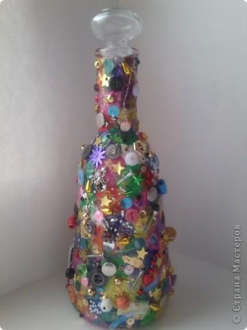 Пластилиновая бутылочка фото 1