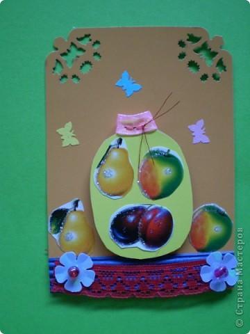 Вот такие баночки с фруктами, очень вкусно зимой. фото 6