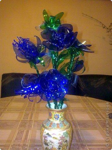 Мои цветьi из пластиковьi бутьiлку фото 7