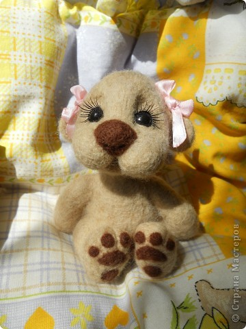 Здравствуйте! Я очень юблю валяшки Татьяны Бараковой, поэтому время от времени пытаюсь копировать ее игрушки. Надеюсь, когда нибудь у меня получится. фото 1