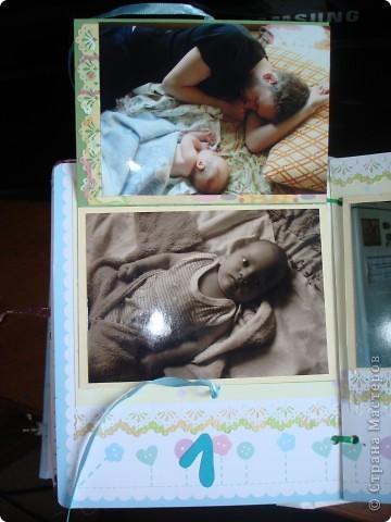 """Первый разворот,надпись которого- """"Бабушкина радость""""-это еще и название альбома. Подарок я делала на День Рождения своей маме, бабушке Данилы и конечно, мне очень хотелось ее порадовать! фото 4"""