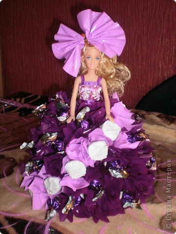 Барби с конфетами мастер класс