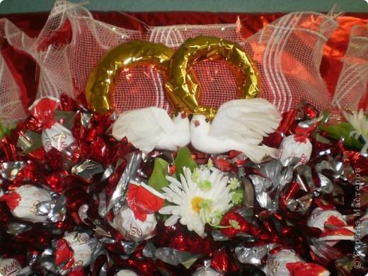 Букетики из конфет фото 10