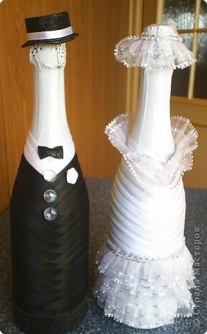 бутылочки на свадьбу. Жених и Невеста.