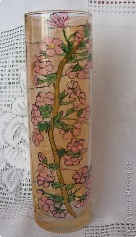 К предстоящему выпускному в садике у старшей дочери решили сделать с ней подарки воспитателям. Вазочка раскрашена витражными красками. Контур рисовала я , раскрашивала Лиза (6,5 лет) фото 3