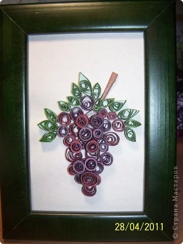 Веточка винограда. Делала моя дочка, ей 9лет. фото 1