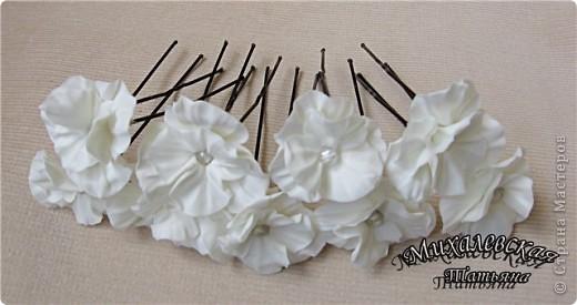 Сделала под заказ вот такие шпильки для невесты  ))) фото 1