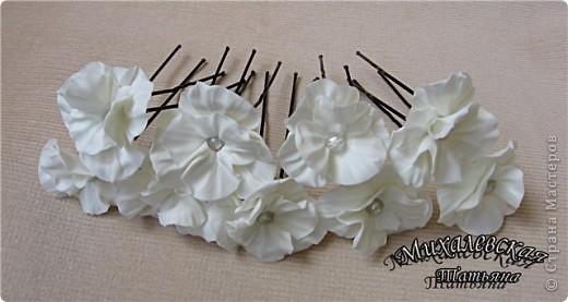 Сделала под заказ вот такие шпильки для невесты  ))) фото 6