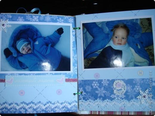 """Первый разворот,надпись которого- """"Бабушкина радость""""-это еще и название альбома. Подарок я делала на День Рождения своей маме, бабушке Данилы и конечно, мне очень хотелось ее порадовать! фото 16"""