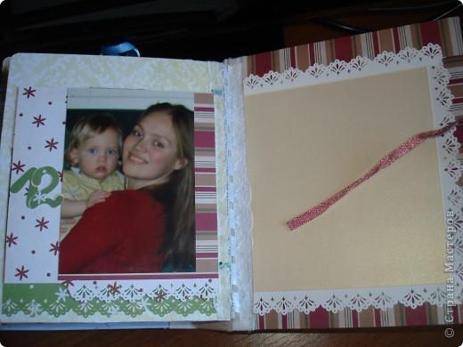 """Первый разворот,надпись которого- """"Бабушкина радость""""-это еще и название альбома. Подарок я делала на День Рождения своей маме, бабушке Данилы и конечно, мне очень хотелось ее порадовать! фото 18"""