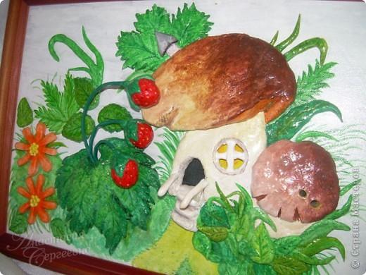 Грибной домик из соленого теста (повторюшка) фото 1