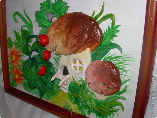Грибной домик из соленого теста (повторюшка) фото 4