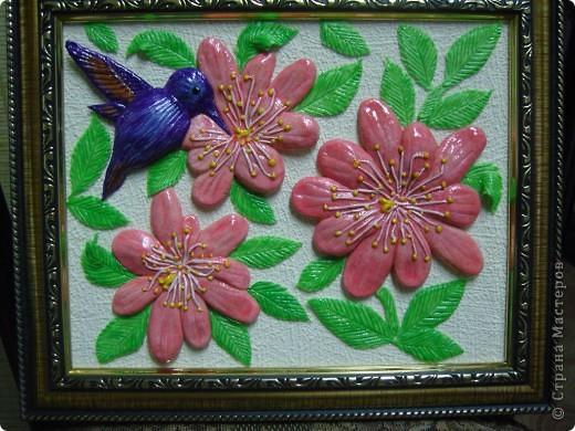 Цветы и птичка. фото 2
