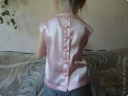атласная блуза для дочери фото 2