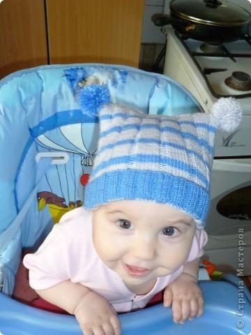 Моя первая шапочка крючком. Можно сказать моя гордость. А в шапочке мое счастье!!! фото 7