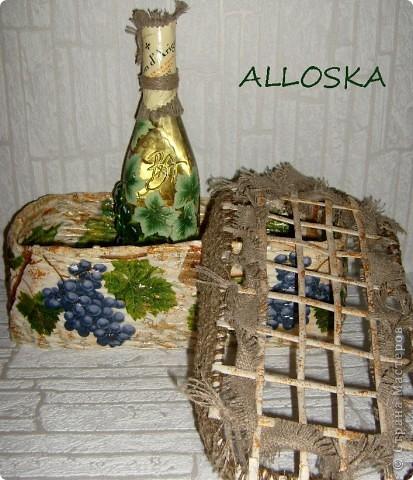 Плетенка и бутылка с декупажем в подарок. Выполнена и газетной бумаги,использованы только белые части. фото 11