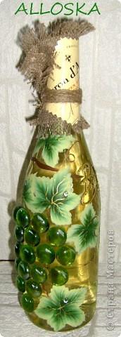 Плетенка и бутылка с декупажем в подарок. Выполнена и газетной бумаги,использованы только белые части. фото 3
