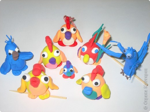 """Последняя работа моих учеников,""""Попугай Рио и его друзья из любимого мультика """"Рио"""". фото 1"""