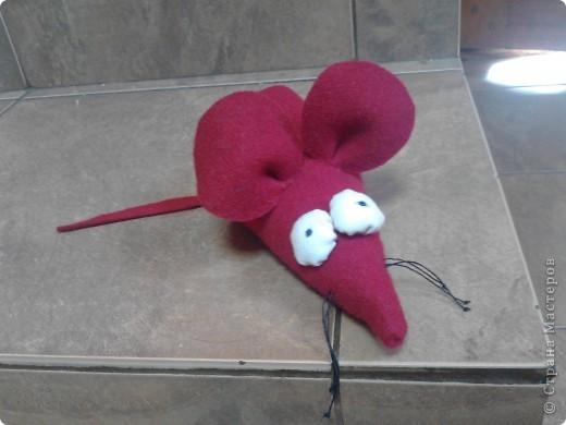 Идею мышки из фетра я где-то видела в дебрях интернета,а тут у знакомых увидела в холодильнике мышку и сыну понравилось...так она у нас появилась фото 3