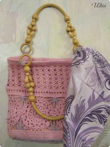 Моя  вязаная -ажурная сумочка на лето. фото 1