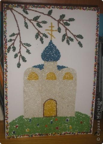 """В кружке с ребятами работали с пшеном на тему """"Мой Храм!"""".Вот что у нас получилось: фото 8"""