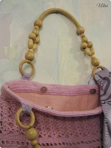 Моя  вязаная -ажурная сумочка на лето. фото 3
