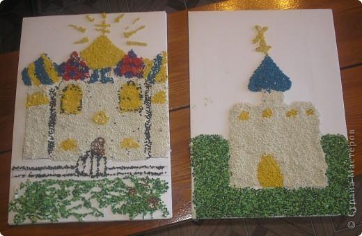 """В кружке с ребятами работали с пшеном на тему """"Мой Храм!"""".Вот что у нас получилось: фото 6"""