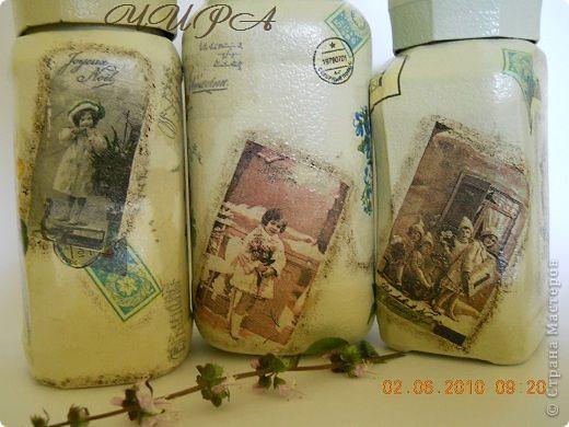 Набор из 5 предметов: 3 баночки под чай-кофе, бутылочка и тубус,который можно использовать для спагетти.  фото 7