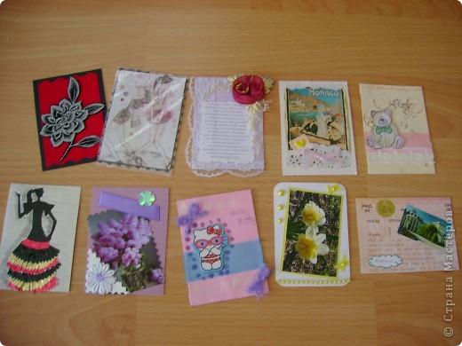 Как же приятно ждать писем!!! Спасибо всем мастерицам СМ за такую радость и идею обмена АТС. Вчера в почтовом ящике обнаружили целых 10 писем!!! Спасибо всем за прекрасные карточки и великолепные подарки. ( Извините,что каждому не подпишусь здесь, загружаю уже третий раз не хватает терпения, надеюсь, сейчас ничего не случится) ВСЕМ -ВСЕМ ВСЕМ- спасибо!!! Итак смотрите фото 15