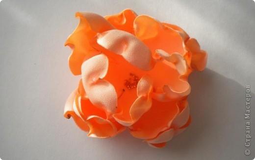 Цветы из ткани фото 2